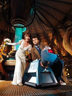 Sarah Jane, the 10th Doctor and K9