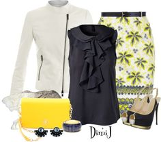 """""""Night Out with Jennifer Loiselle"""" by dimij on Polyvore. I love the top."""
