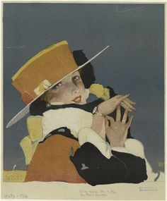 Image Title:  [Woman wearing a hat, 1910s.]  Creator: Hencke, Albert — Artist  Published Date: 1916