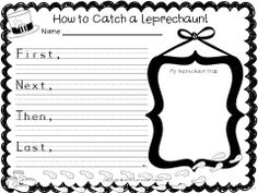 How to catch a Leprechaun draw and write activity for St. Patrick's Day! $
