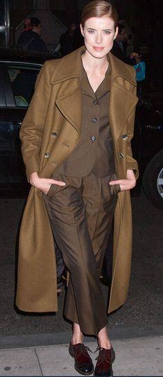 Agyness Deyn at the Gotham Independent Film Awards - celebrity fashion Diane Keaton, Fashion Deals, Fashion Outfits, Womens Fashion, Brown Fashion, Winter Fashion, Pretty Mercerie, Agyness Deyn, Model Street Style