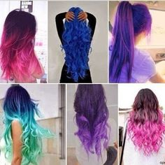 Hair styles with beautiful hair color