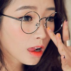 Harajuku Shop Eyeglass Frame on The Demon's Chest.Emo Vintage Round Eyeglass Frame College Girly Glasses Dc480 is a must to make an amazing outfit. You can wear it in any occasion - school, office, dates, and parties.