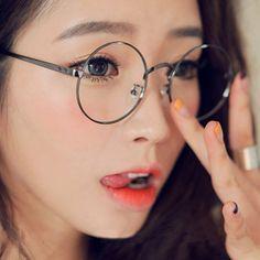 d6f6c28bbae Emo Vintage Round Eyeglass Frame College Girly Glasses DC480