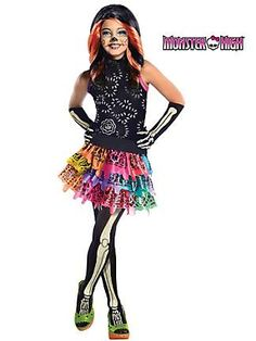 Plus Size Monster High Costumes | ... Calaveras Monster High Costume | Girls Monster High Halloween Costumes