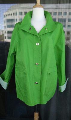 f3da641a012 TALBOTS Women s Jacket Kiwi Green Size 2X  Talbots  BasicJacket