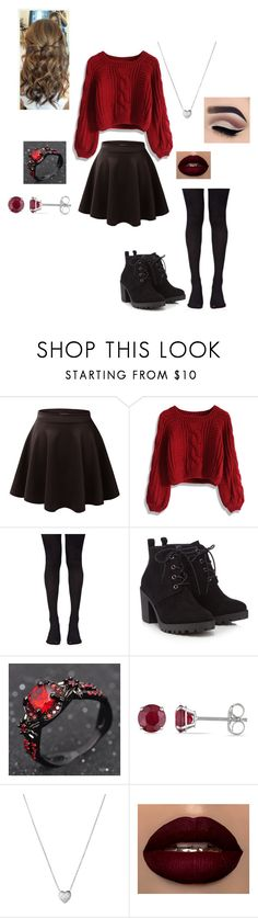 """Untitled #55"" by scarlett-redfoxx on Polyvore featuring Chicwish, Music Legs, Red Herring, Allurez and Links of London"