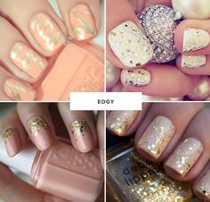 edgy wedding nail ideas #manicure