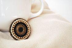 beaded brooch  #diyjewelry #handmadejewelry #beadedjewelry