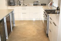 CapeCrete Colour Screed Floors, love the kitchen too.