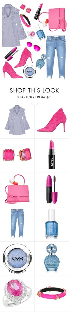 """Untitled #1042"" by lisacom ❤ liked on Polyvore featuring Caroline Constas, Topshop, Kate Spade, NYX, Revlon, MANGO, Essie, Marc Jacobs, Miadora and Alexis Bittar"