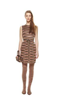 #MMissoni Look 13 | gold #lurex dress | fall winter 2012/13