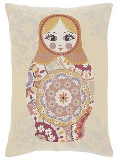 Appliqué Russian Doll cushion