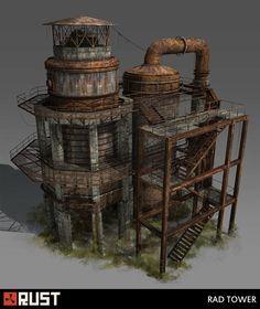 ArtStation - Rust - Radtown Buildings, Howard Schechtman