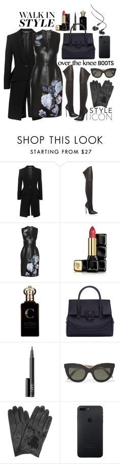 """Over the Knee Boots"" by jesstu ❤ liked on Polyvore featuring Alexander McQueen, Casadei, Guerlain, Clive Christian, Versace, NARS Cosmetics, Victoria Beckham and Forzieri"