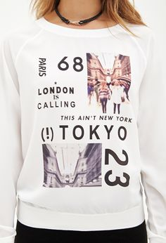 Cities Graphic Top - Tops - Graphic Tees - 2000117442 - Forever 21 UK