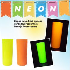Copos Long Drink Neon