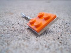 Orange Lego Hairpin  http://www.etsy.com/shop/elizdesignetsy