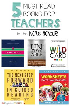 Ready to start 2018 on the inspired, refresh, and ready to take action foot? These 5 books are sure to inspire a better teacher self in the new year! First Year Teachers, New Teachers, Elementary Teacher, School Teacher, Kindergarten Teachers, Elementary Education, Upper Elementary, Teacher Books, Best Teacher