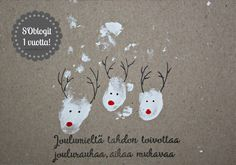 Suvikukkasia: Joulukuu! Personalised Christmas Cards, Homemade Christmas Cards, Christmas Wishes, Xmas Cards, Handmade Christmas, Christmas Fair Ideas, Christmas Inspiration, Christmas Crafts, Christmas Decorations