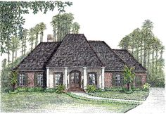 Front and Rear Porches - 56345SM | Acadian, European, French Country, Southern, 1st Floor Master Suite, Butler Walk-in Pantry, Den-Office-Library-Study, Jack & Jill Bath, PDF, Split Bedrooms, Corner Lot | Architectural Designs