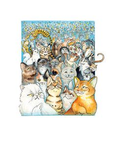 wonderful illustrator! Lots of Cats by JA Mager