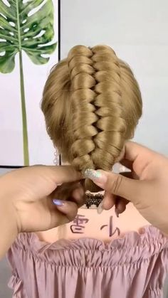 Braided Hairstyles Tutorials, Easy Hairstyles For Long Hair, Braids For Long Hair, Pretty Hairstyles, Hair Style Vedio, Hair Up Styles, Hair Videos, Hair Today, Gorgeous Hair