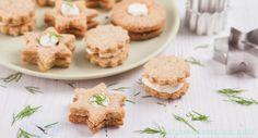 Herzhafte gefüllte Kekse (Spitzbuben)
