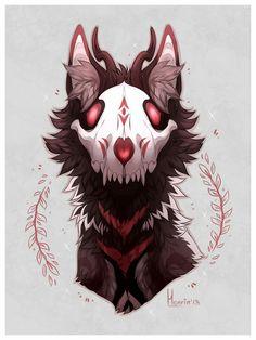Dark Creatures, Mythical Creatures, Animal Drawings, Art Drawings, Tier Wolf, Drawn Art, Creepy Art, Monster Art, Dark Fantasy Art