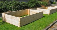 If you want to convert lawn into a vegetable garden, do it the easy way with raised beds.