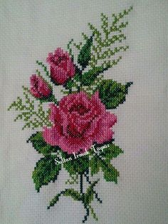 This Pin was discovered by Pat Cross Stitch Heart, Cross Stitch Borders, Cross Stitch Flowers, Cross Stitch Designs, Cross Stitching, Cross Stitch Embroidery, Hand Embroidery, Cross Stitch Patterns, Embroidery Designs