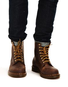 Dr Marten's 8 Eye Rugged Boots Brown | Shop men's shoes and clothing at The Idle Man