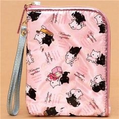 pale pink Kutusita Nyanko wallet cat heart Japan