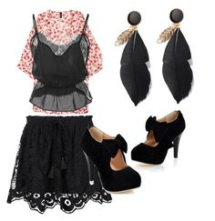 """""""Night on the town"""" by brittany-wilkewitz on Polyvore featuring Chloé, H&M and Fleur du Mal"""