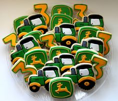 John Deere Cookie Favors Tractor Birthday 1 by TheSugarSanctuary, $39.00