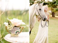 classic bride: Monday Vintage Find: Romantic New England Equestrian Bridal Shoot Classic Bride: Polished Wedding + Daily Style