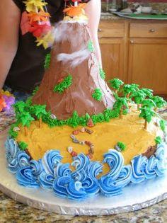 The Bake-Off Flunkie: The Island Volcano Cake