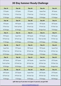 Who is up for a 30 day summer challenge?  Squat, Push Up, and bridge your way to a better body! #RW3Bsummer30 #girlsgonesporty #sweatpink