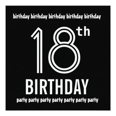 440 best 18th birthday party invitations images on pinterest in 2018 18th birthday party invite black white template filmwisefo