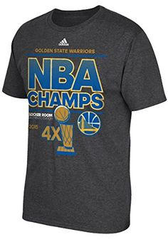 Golden State Warriors 2015 Adult Championship Locker Room T-Shirt Size:  Small adidas http