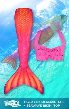 Lily Mermaid Tail Swim like a real mermaid in Fin Fun's swim-able mermaid tail.Swim like a real mermaid in Fin Fun's swim-able mermaid tail. Girls Mermaid Tail, Mermaid Swim Tail, Mermaid Tails For Kids, Mermaid Room, Mermaid Beach, Mermaid Gifts, Mermaid Style, Unicorns And Mermaids, Real Mermaids