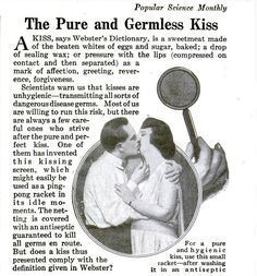 Germ-Less Kissing Using This 1920s Device