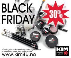 BLACK FRIDAY, årets største salg! Gjør et kupp på kvalitetssminke. Velkommen innom nettbutikken. www.kim4u.no