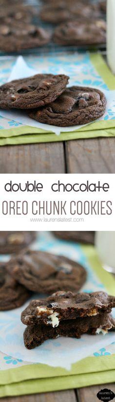 Double Chocolate Oreo Chunk Cookies