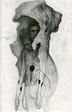 João Ruas #illustration #drawing #people #lion #portrait #pencil