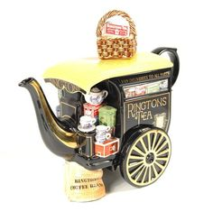 Antique Ringtons Tea Cart Teapot by Paul Cardew