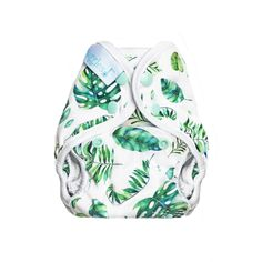 Ferns & Fronds - Tuck-Wrap-Go Cover - Size 1 (Newborn/SM) – Nuggles Designs Canada #clothdiapers #newborndiapers #diapers #clothdiapercover