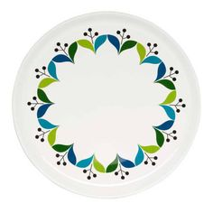 Retro plate has a lovely pattern inspired by design from the sixties. Perfect to combine with other products from the Retro-series. 1950s Decor, Blue Plates, Geometric Lines, Deco Table, Home And Deco, Pottery Painting, Boho Hippie, Plate Sets, Scandinavian Design