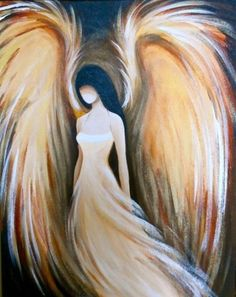 angel by violet Angels Among Us, Angels And Demons, Angel Artwork, Angel Paintings, Angel Drawing, I Believe In Angels, Prophetic Art, Angel Pictures, Painting Inspiration