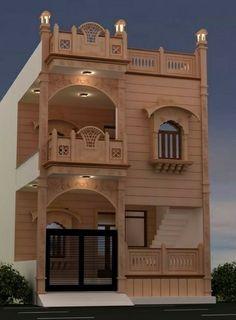 House Outer Design, House Floor Design, Modern Small House Design, House Outside Design, Bungalow House Design, Cool House Designs, House Design Pictures, Village House Design, Beautiful House Plans